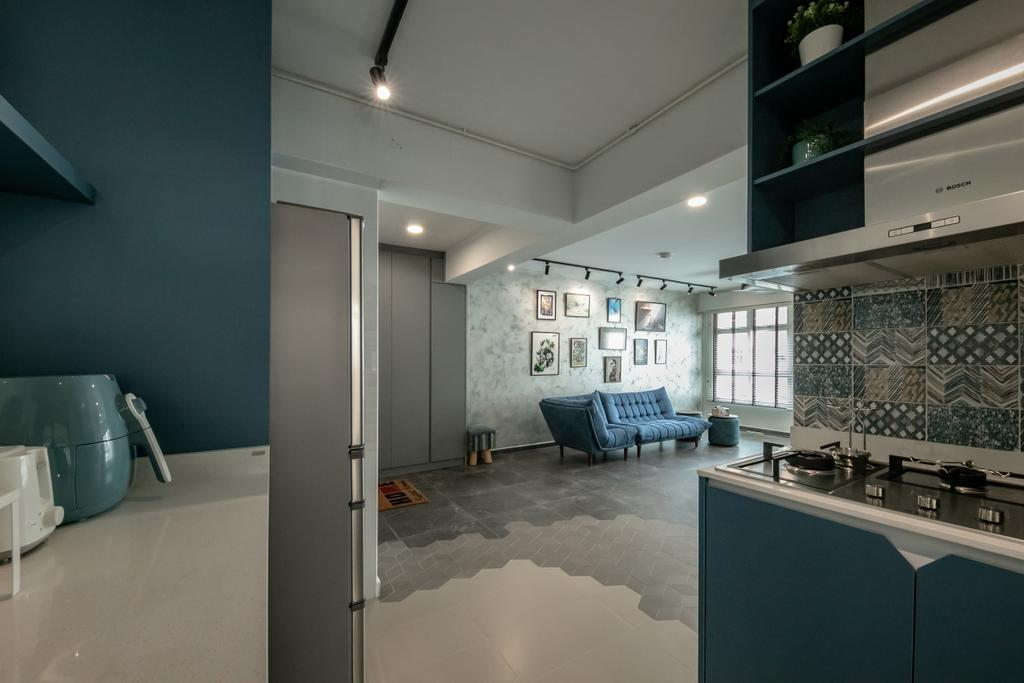 Modern, HDB, Kitchen, Circuit Road, Interior Designer, Space Atelier