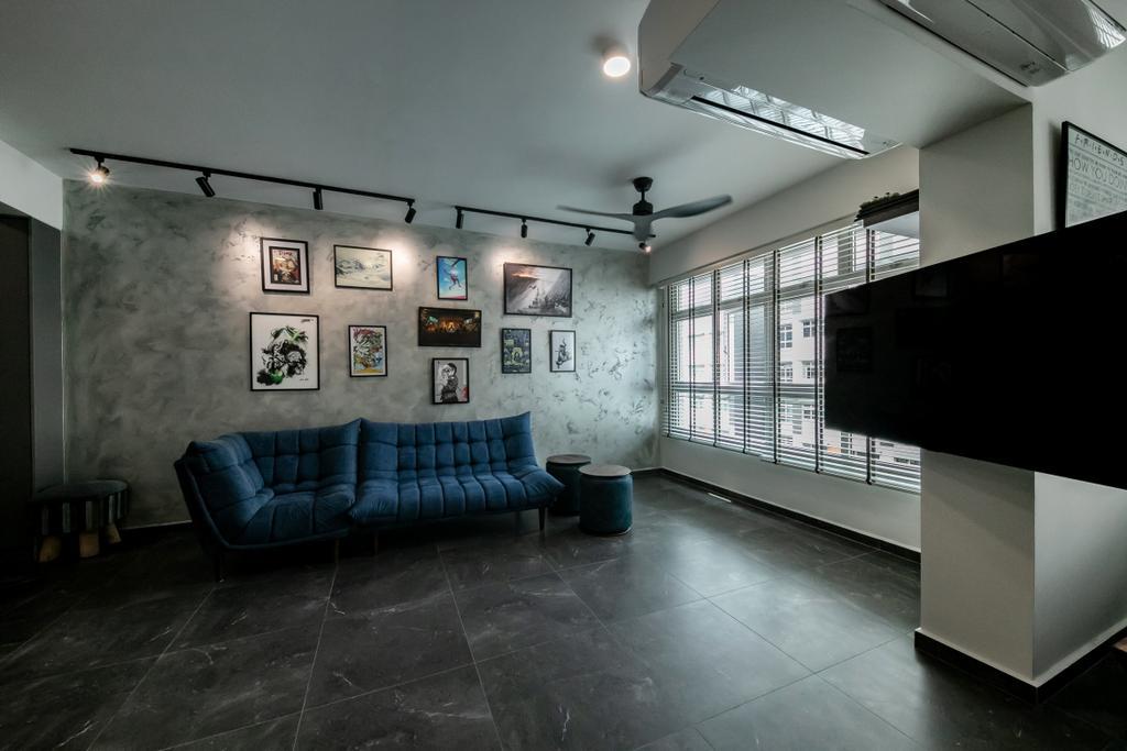 Modern, HDB, Living Room, Circuit Road, Interior Designer, Space Atelier
