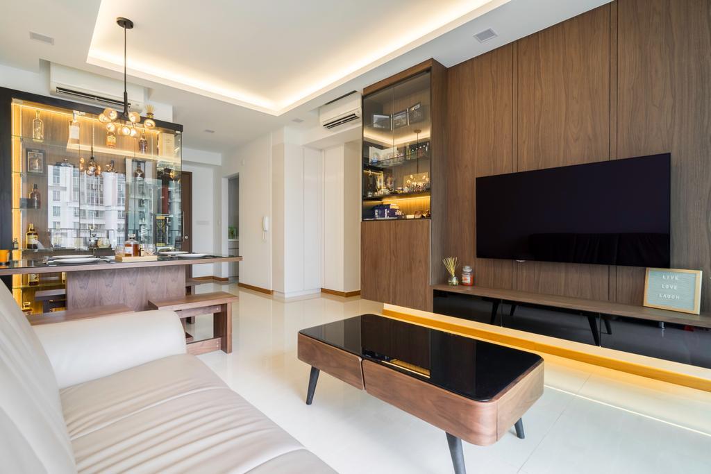 Contemporary, Condo, Living Room, One Canberra, Interior Designer, DreamVision Designer