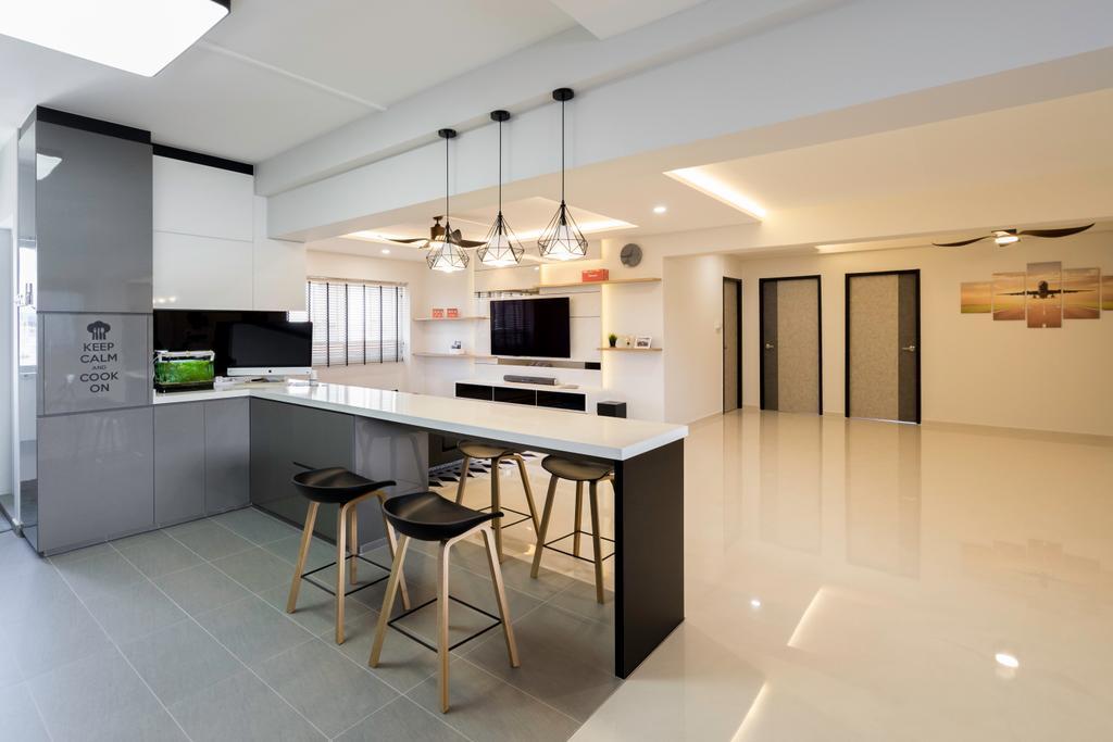 Modern, HDB, Kitchen, Pasir Ris Street 21, Interior Designer, Willis Design