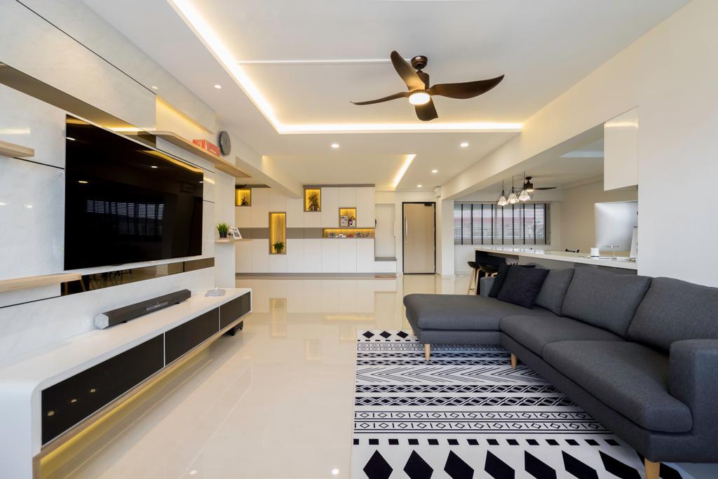 Modern, HDB, Living Room, Pasir Ris Street 21, Interior Designer, Willis Design