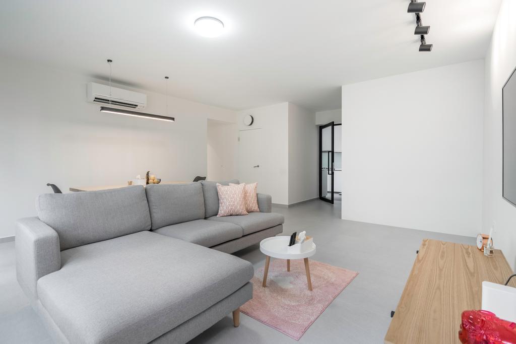 Minimalistic, HDB, Living Room, Anchorvale Link, Interior Designer, Forefront Interior, Modern
