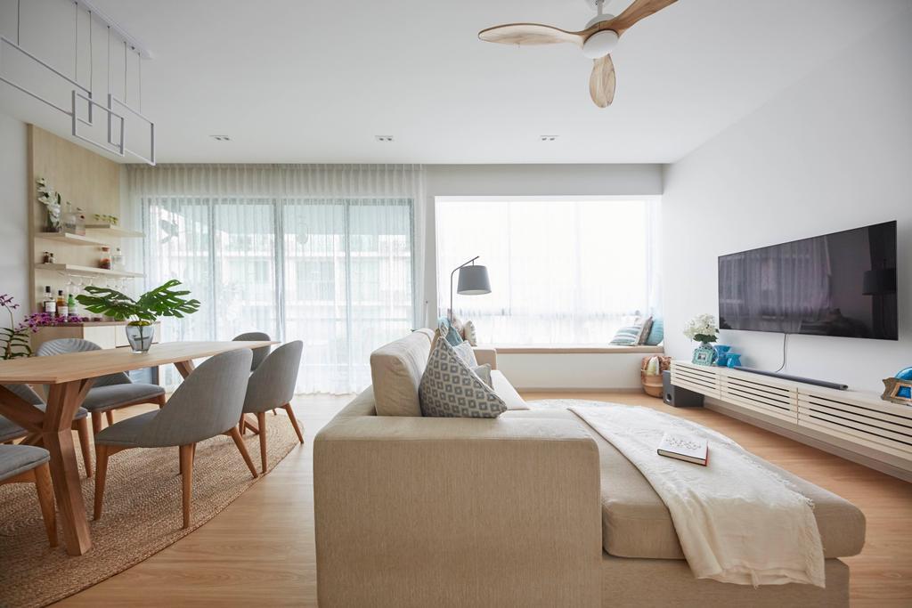 Modern, Condo, Living Room, One North Residences, Interior Designer, The Interior Lab, Minimalist