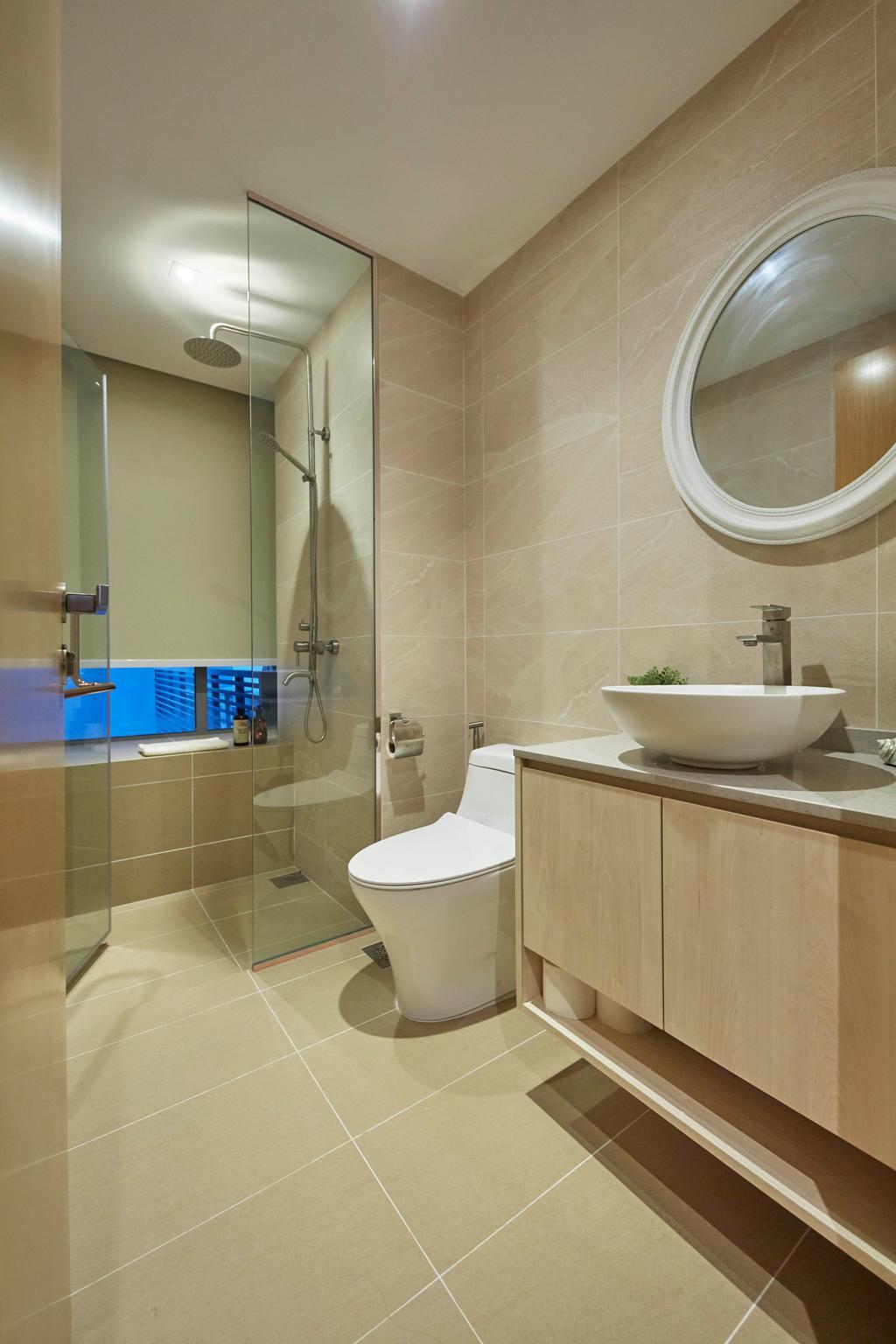Modern, Condo, Bathroom, One North Residences, Interior Designer, The Interior Lab, Minimalist