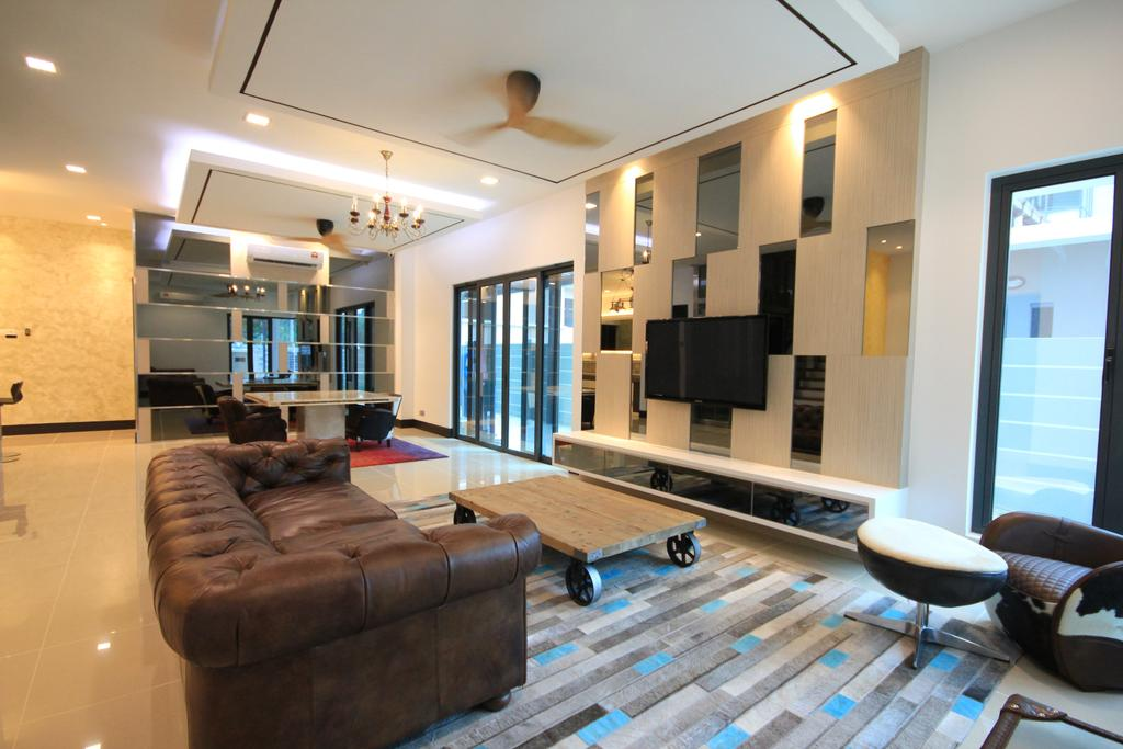 Modern, Landed, Living Room, Bukit Tunku, Kuala Lumpur, Interior Designer, Alecc Interior Design