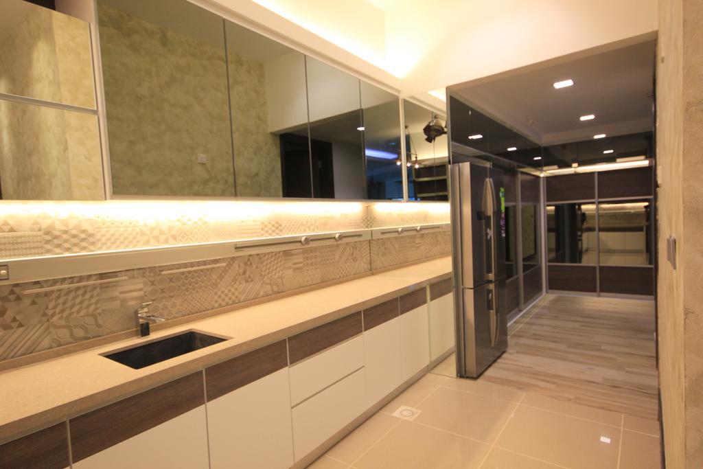 Modern, Landed, Kitchen, Bukit Tunku, Kuala Lumpur, Interior Designer, Alecc Interior Design