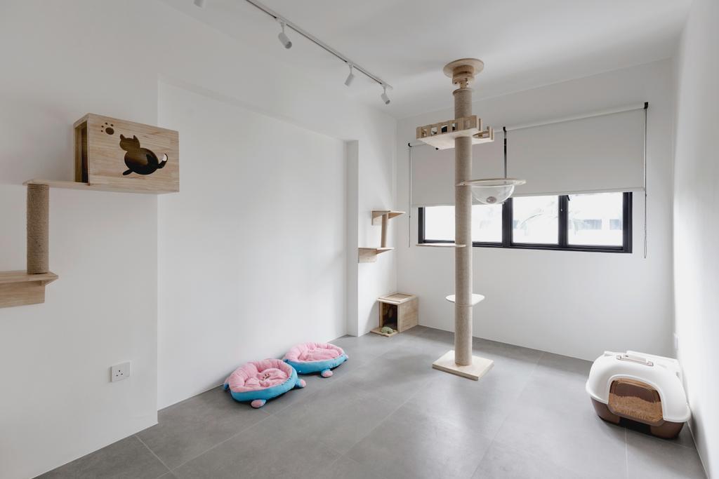 Contemporary, HDB, Bedroom, Senja Road, Interior Designer, Stylemyspace, Spare Room, Cats Room, Cats, Cat Friendly, Pet Friendly, Pets