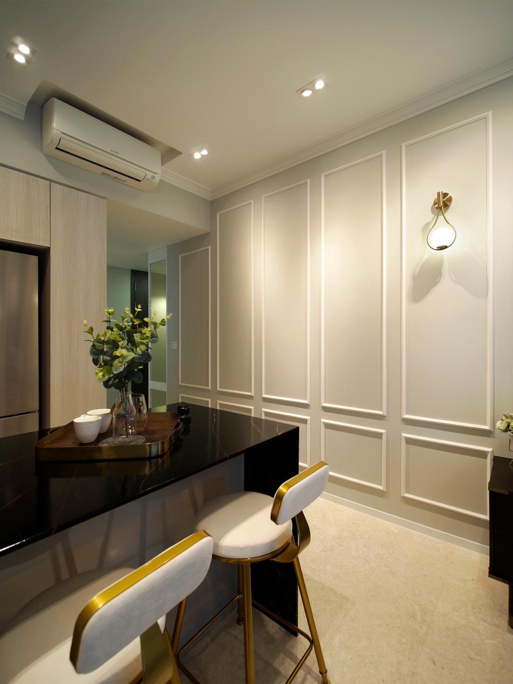 Contemporary, Condo, Dining Room, Clement Canopy, Interior Designer, Urban Habitat Design
