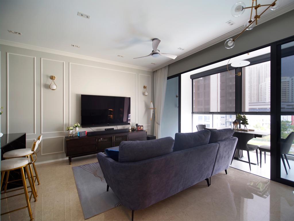 Contemporary, Condo, Living Room, Clement Canopy, Interior Designer, Urban Habitat Design