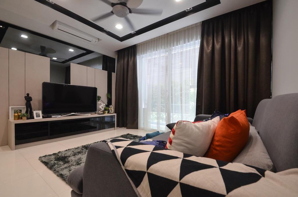Modern, Landed, Living Room, Sunway Challis, Damansara, Interior Designer, Zyon Studio Sdn. Bhd., Contemporary