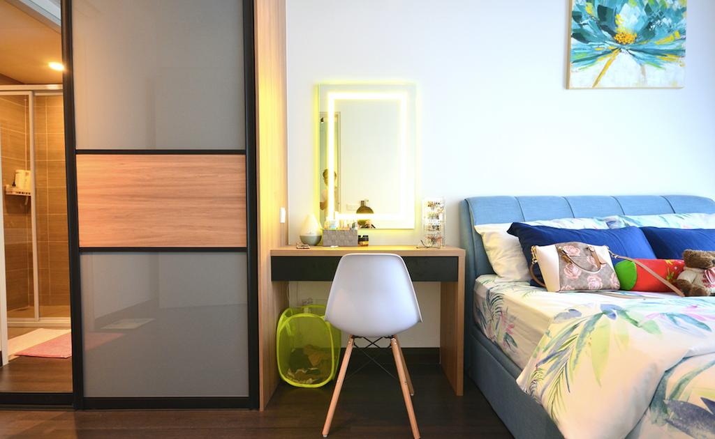 Scandinavian, Condo, Bedroom, BLVD 28, Pandan Perdana, Interior Designer, Anwill Design Sdn Bhd