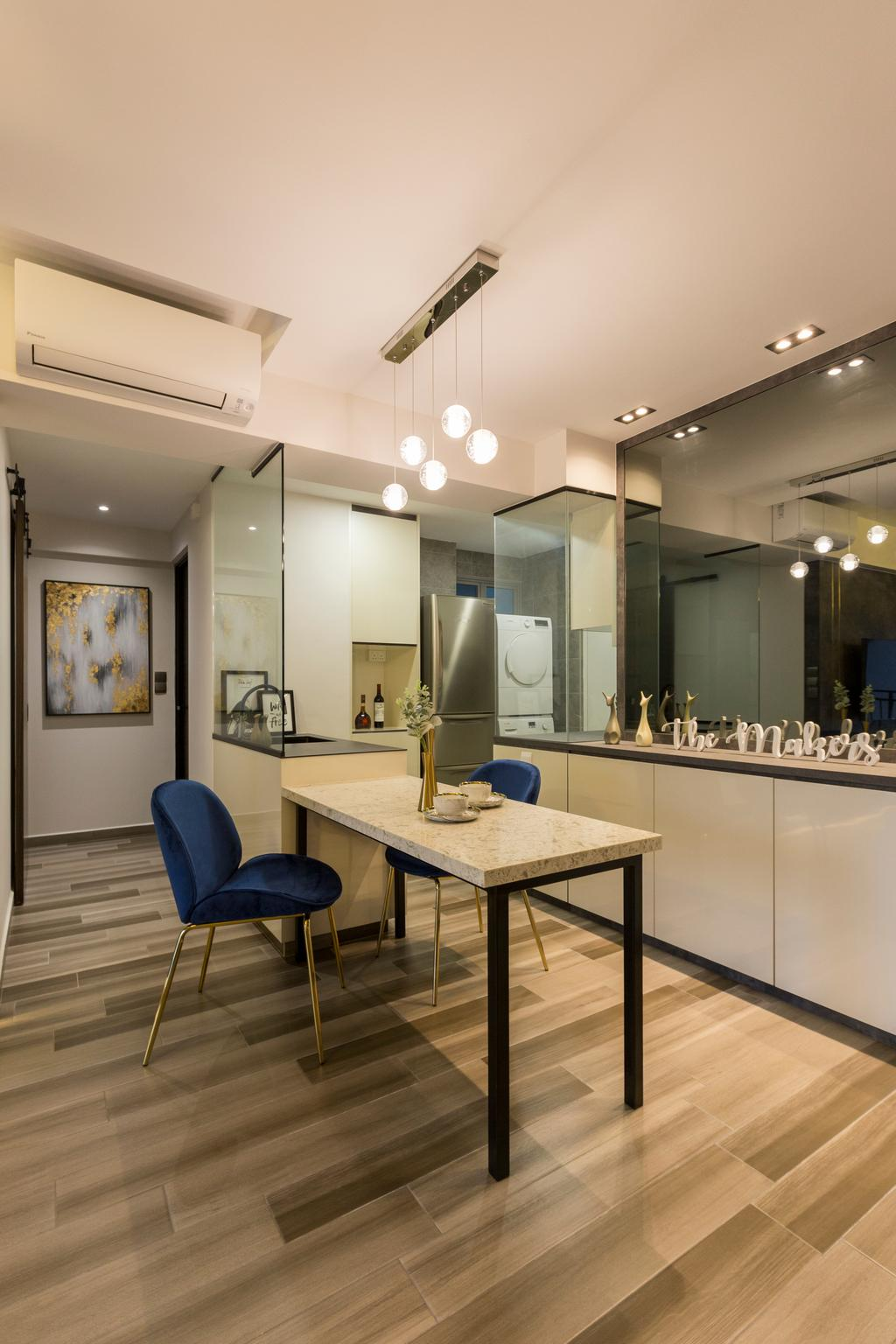 Contemporary, HDB, Dining Room, Lorong 1A Toa Payoh, Interior Designer, The Makers Design Studio