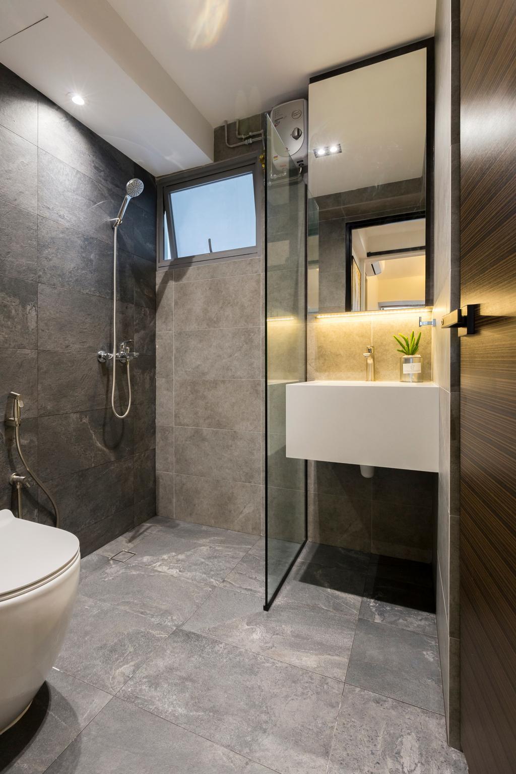 Contemporary, HDB, Bathroom, Lorong 1A Toa Payoh, Interior Designer, The Makers Design Studio