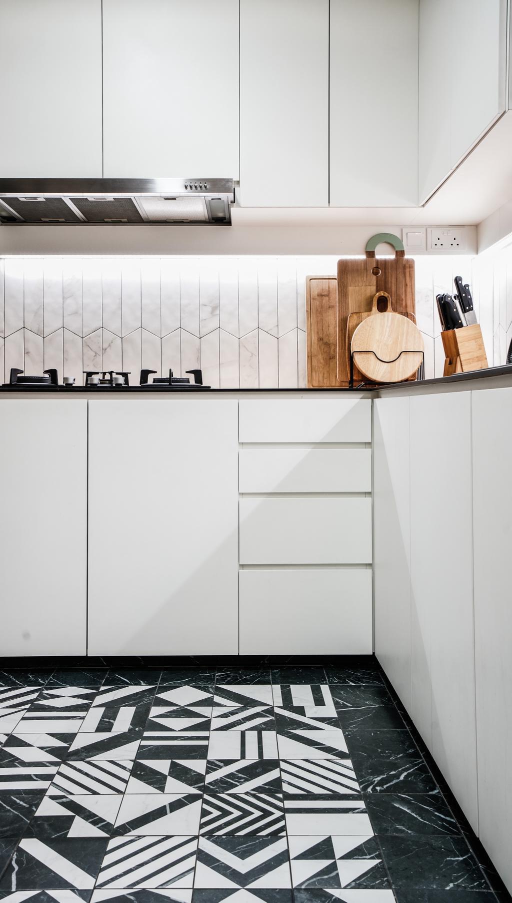Modern, Condo, Kitchen, Flo Residences, Interior Designer, Couple Abode