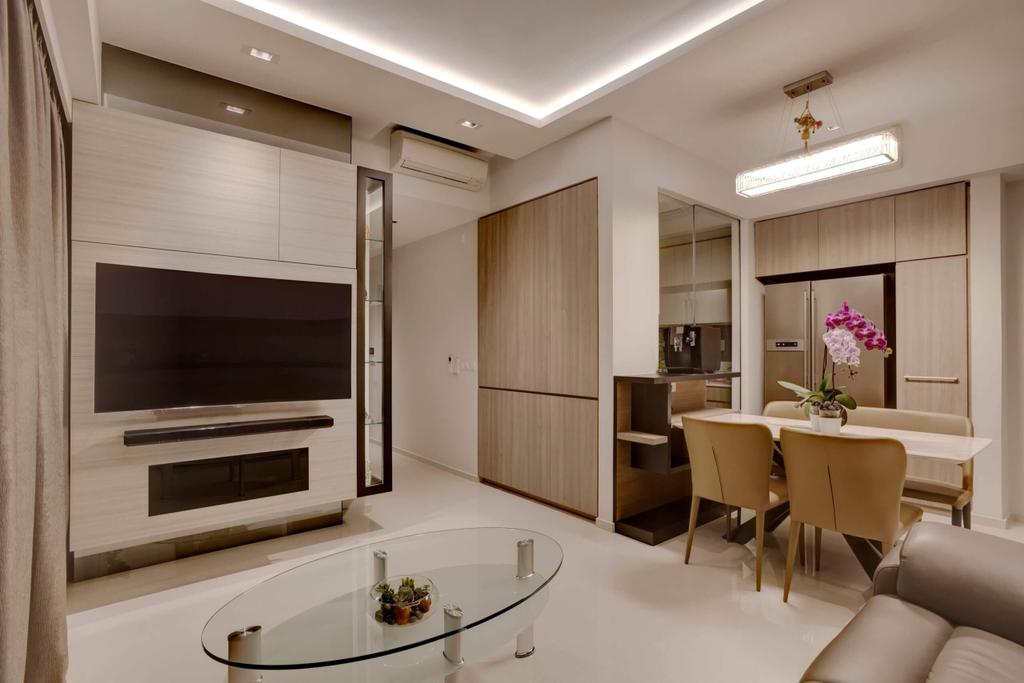Modern, Condo, Living Room, Riverbank, Interior Designer, Space Factor