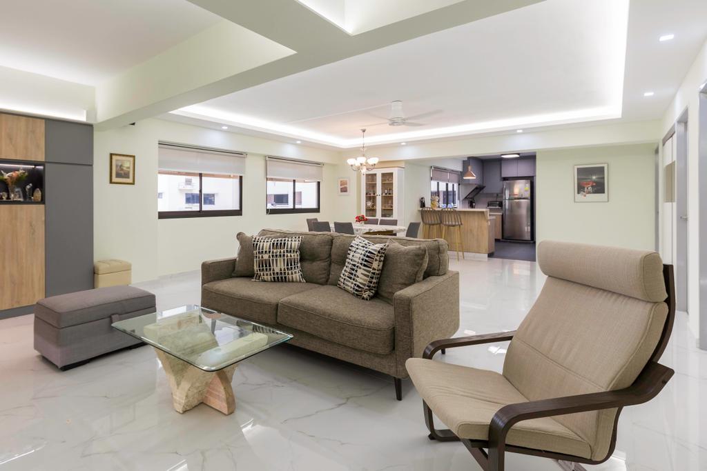 Transitional, HDB, Living Room, Choa Chu Kang Avenue 2, Interior Designer, Seven Heaven, Modern