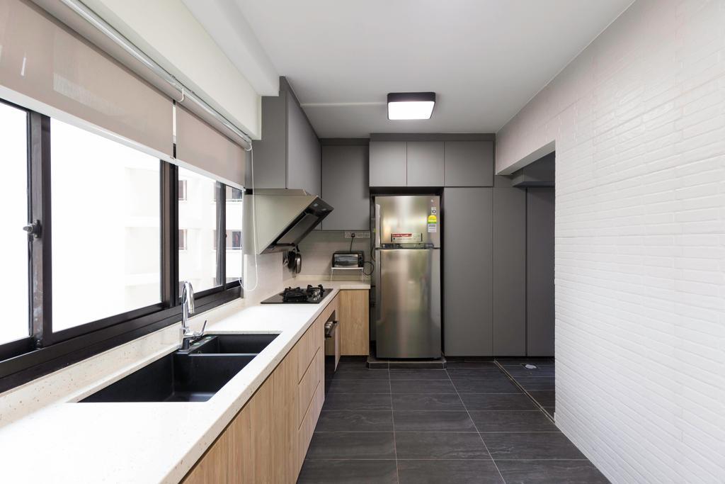 Transitional, HDB, Kitchen, Choa Chu Kang Avenue 2, Interior Designer, Seven Heaven, Modern