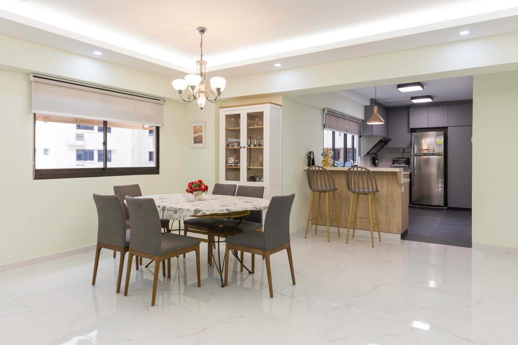 Transitional, HDB, Dining Room, Choa Chu Kang Avenue 2, Interior Designer, Seven Heaven, Modern