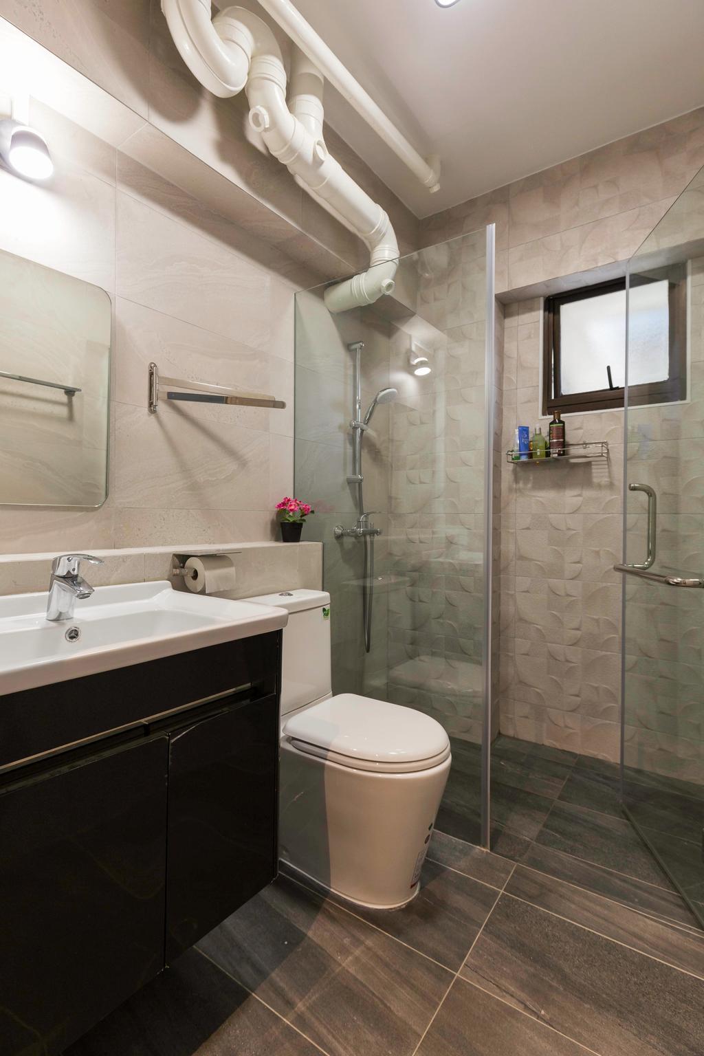 Transitional, HDB, Bathroom, Choa Chu Kang Avenue 2, Interior Designer, Seven Heaven, Modern