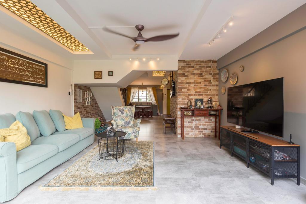 Eclectic, HDB, Living Room, Bedok Reservoir Road, Interior Designer, Seven Heaven, Maisonette, Hdb Masionette