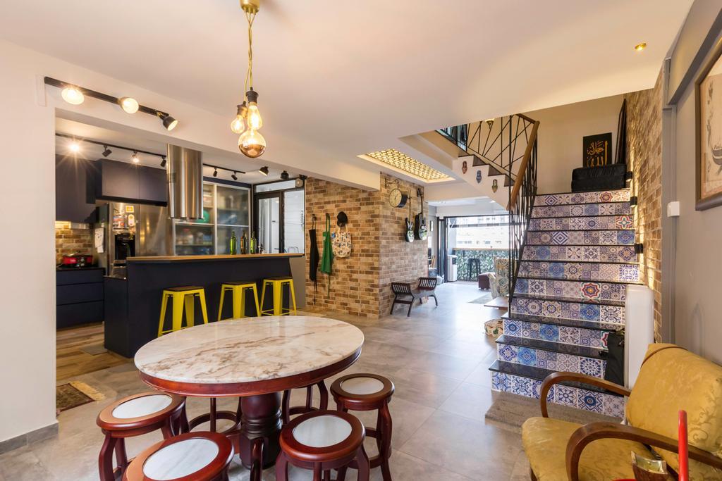 Eclectic, HDB, Dining Room, Bedok Reservoir Road, Interior Designer, Seven Heaven