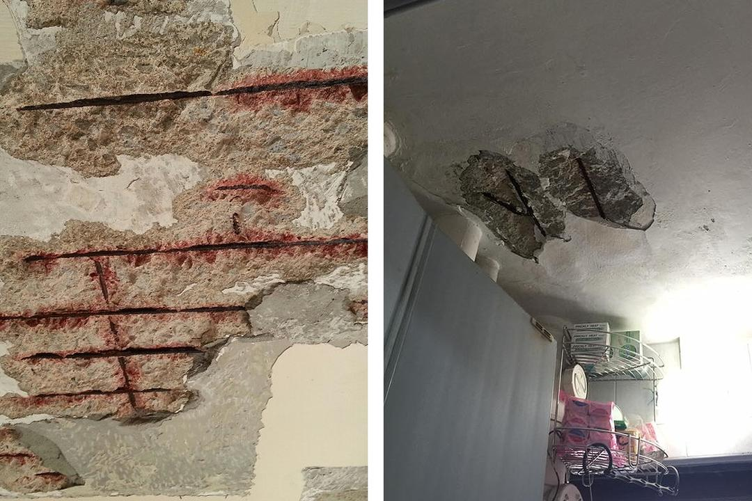 Spalling Concrete Ceiling