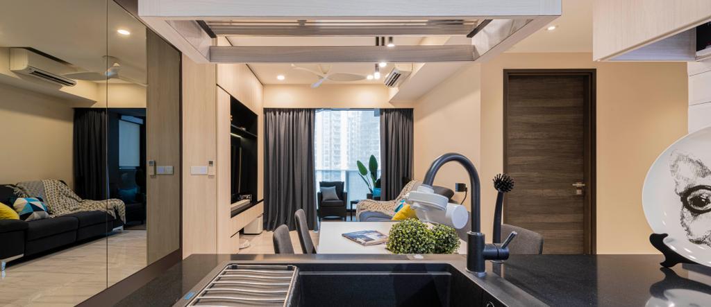Contemporary, Condo, Kitchen, The Poiz Residences, Interior Designer, Meter Square