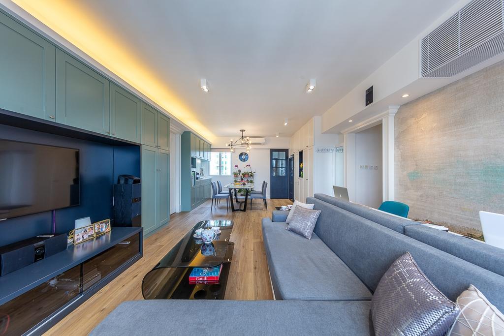 過渡時期, 私家樓, 客廳, 觀塘樂意園, 室內設計師, am PLUS
