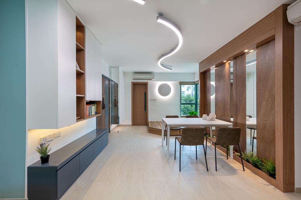 摩登, 私家樓, 飯廳, 大埔帝欣苑, 室內設計師, am PLUS