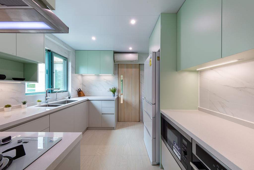 摩登, 私家樓, 廚房, 大埔帝欣苑, 室內設計師, am PLUS