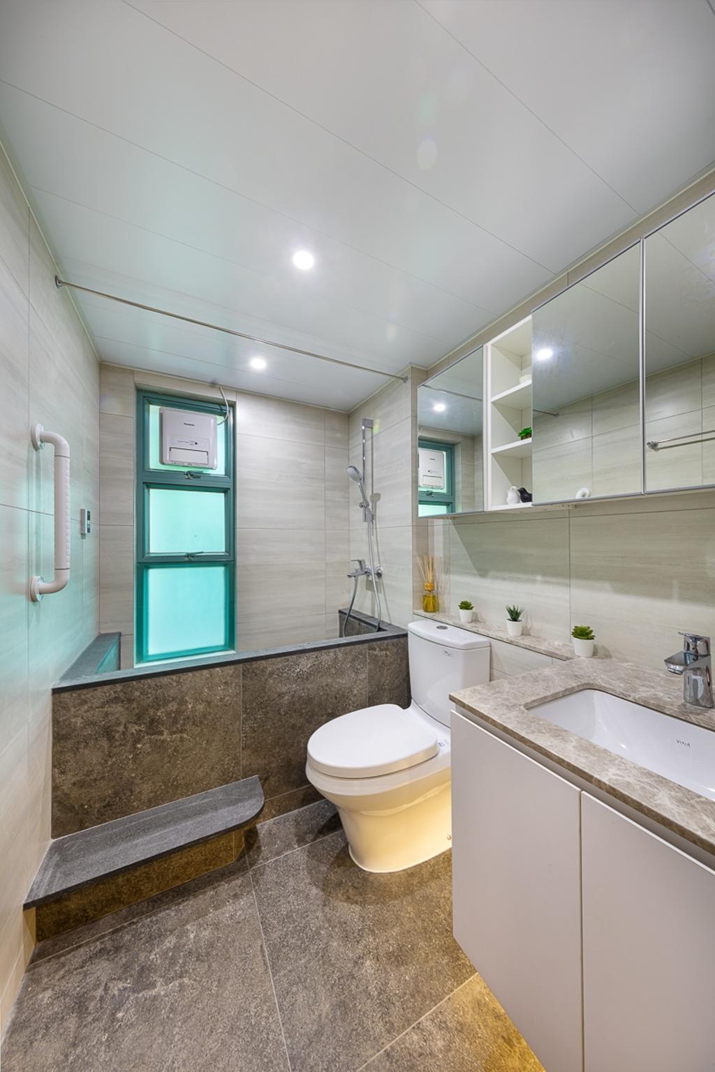 摩登, 私家樓, 浴室, 大埔帝欣苑, 室內設計師, am PLUS