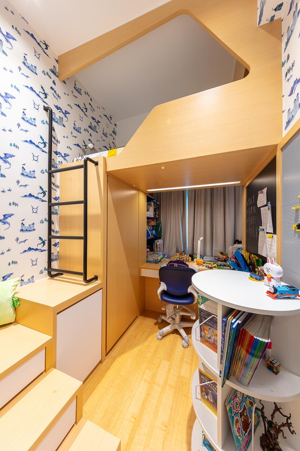 簡約, 私家樓, 睡房, 天宇海, 室內設計師, am PLUS