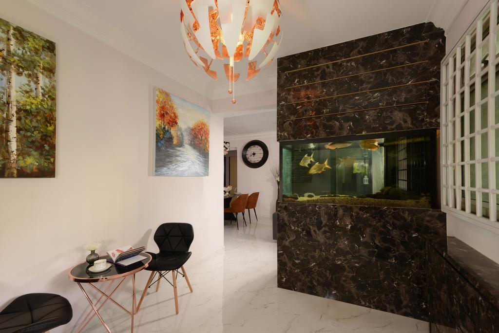 Contemporary, HDB, Living Room, Woodlands Avenue 5, Interior Designer, Darwin Interior
