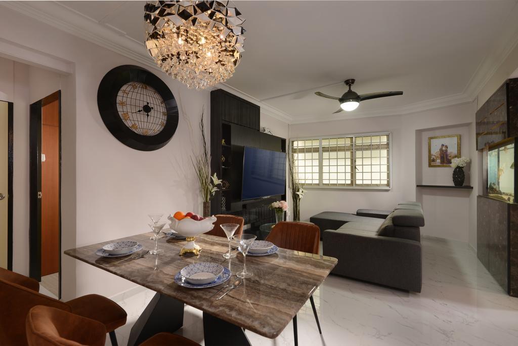 Contemporary, HDB, Dining Room, Woodlands Avenue 5, Interior Designer, Darwin Interior