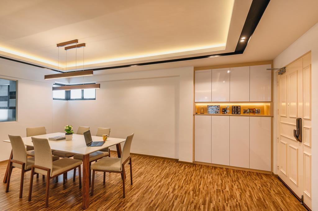 Modern, HDB, Dining Room, Woodlands Drive 14, Interior Designer, Darwin Interior, Minimalistic