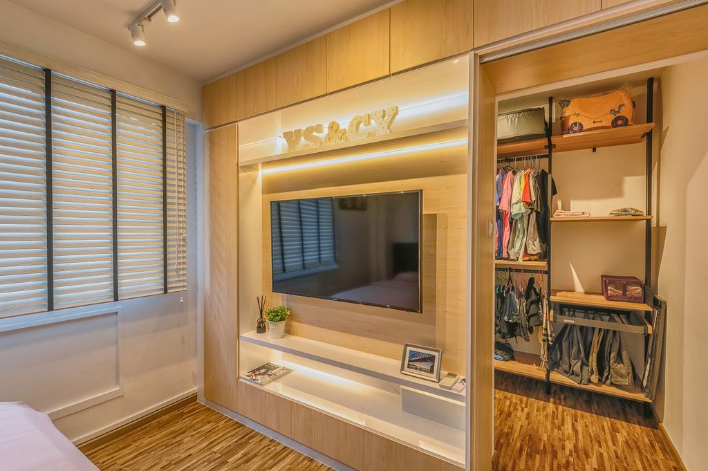 Modern, HDB, Bedroom, Woodlands Drive 14, Interior Designer, Darwin Interior, Minimalistic