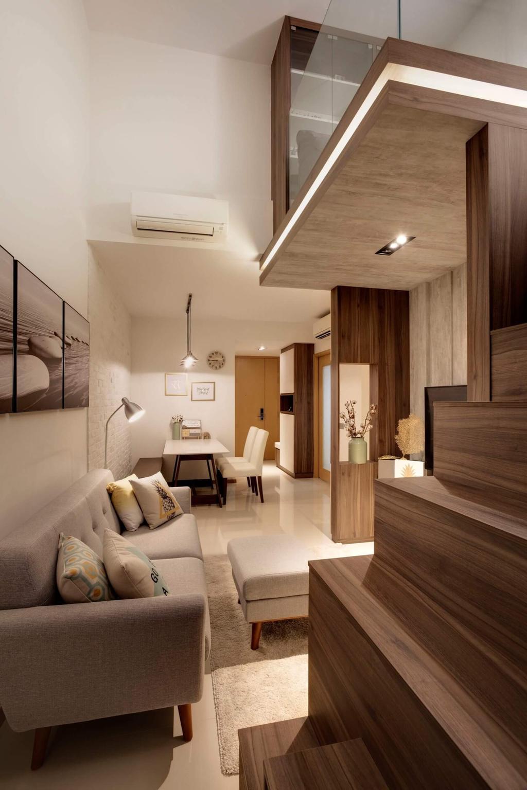 Minimalistic, Condo, Living Room, Blossom Residences, Interior Designer, Space Factor, Modern