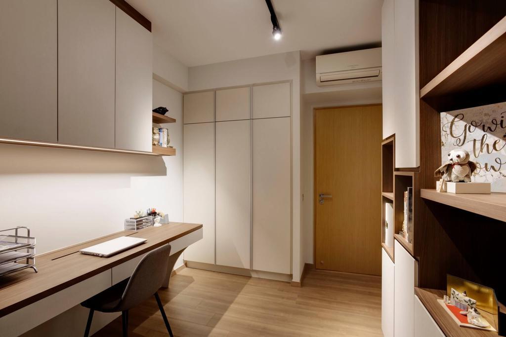Minimalistic, Condo, Study, Blossom Residences, Interior Designer, Space Factor, Modern