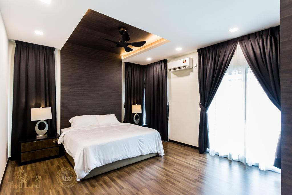Modern, Landed, Bedroom, Ridgewood, Taman Bercham Permai Perak, Interior Designer, Red Land Design