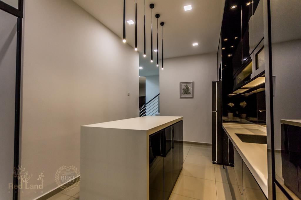 Modern, Landed, Kitchen, Ridgewood, Taman Bercham Permai Perak, Interior Designer, Red Land Design