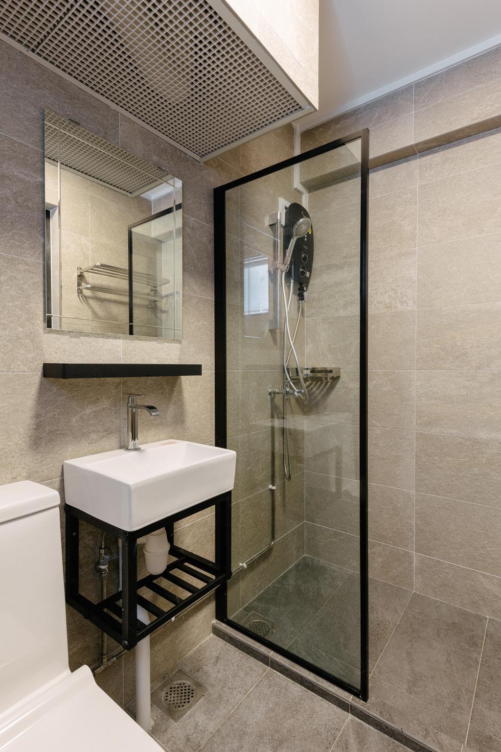 Minimalistic, HDB, Bathroom, Bishan Street 13, Interior Designer, Yang's Inspiration Design, Contemporary, Scandinavian