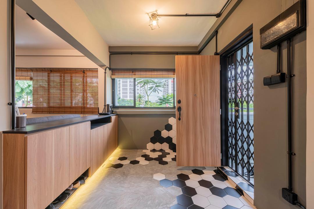 Serangoon North Avenue 1, Stylemyspace, Contemporary, Balcony, HDB, Foyer, Shoe Cabinet, Entrance, Entryway