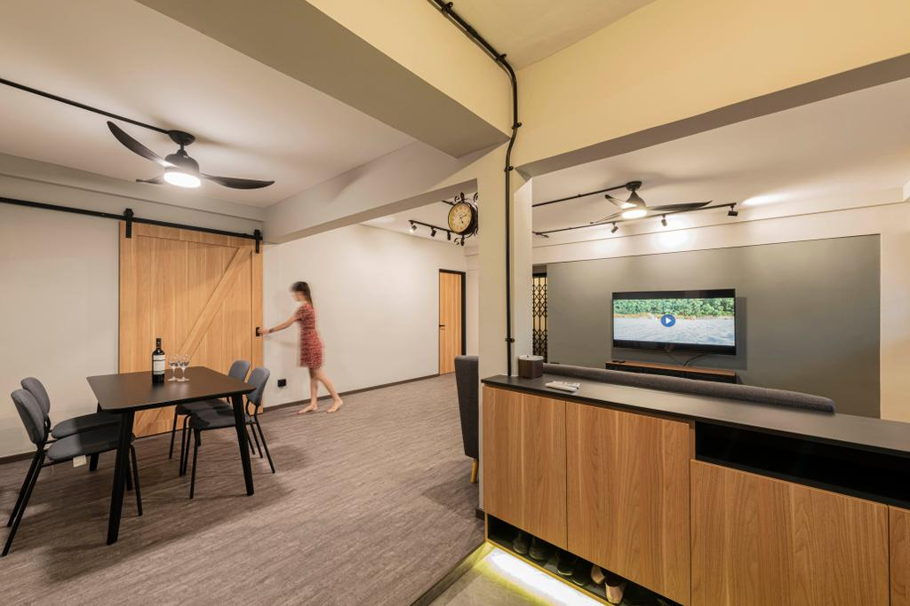 Contemporary, HDB, Living Room, Serangoon North Avenue 1, Interior Designer, Stylemyspace, Open Concept, Open, Flexi Spaces