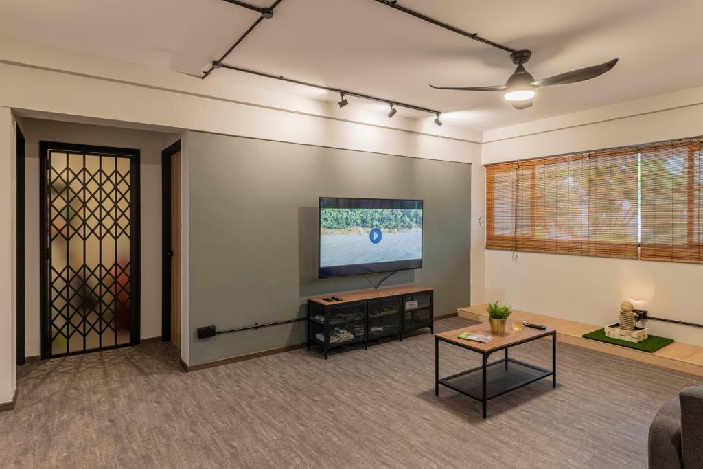 Contemporary, HDB, Living Room, Serangoon North Avenue 1, Interior Designer, Stylemyspace