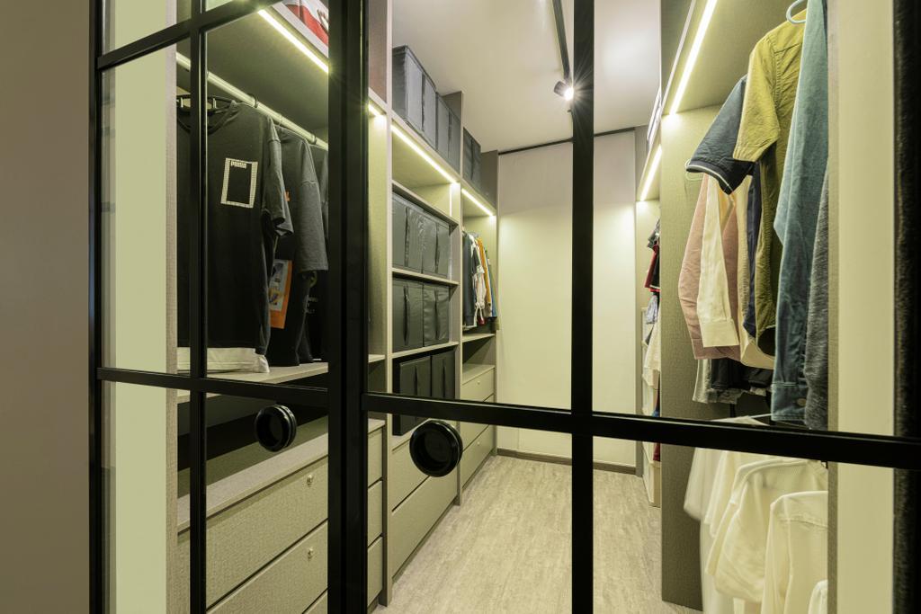 Contemporary, HDB, Bedroom, Serangoon North Avenue 1, Interior Designer, Stylemyspace, Walk In Wardrobe, Wardrobe, Dressing Room
