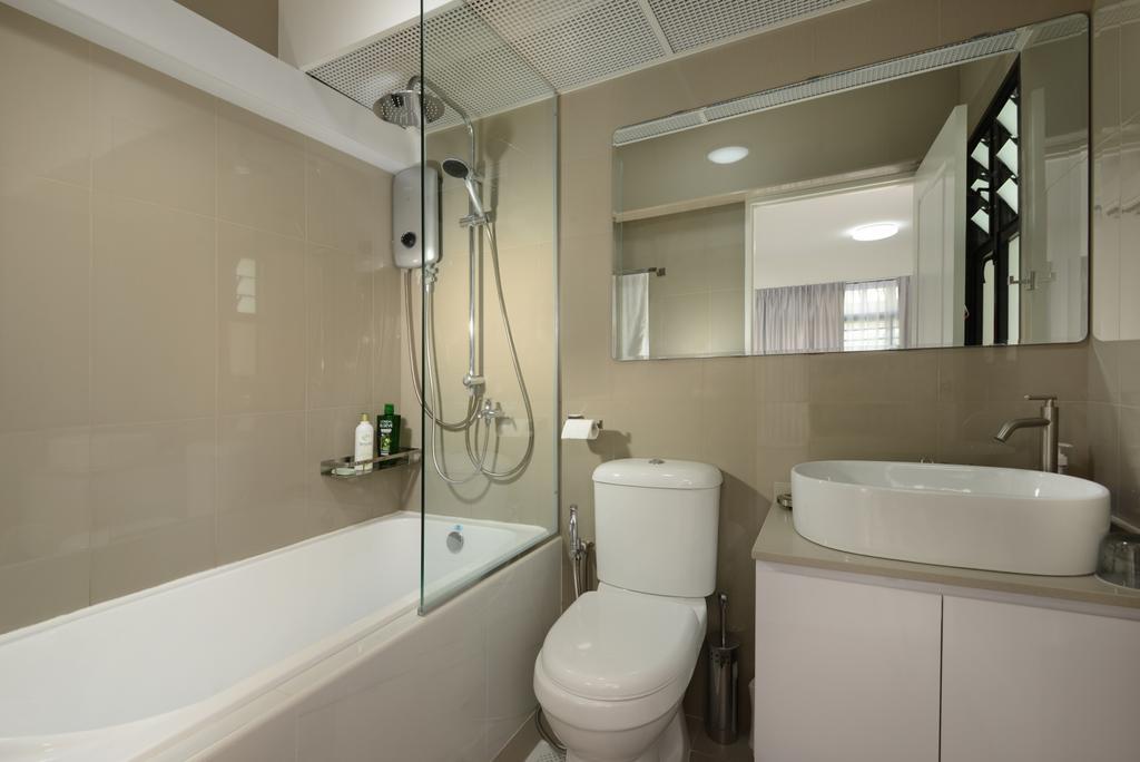 Modern, HDB, Bathroom, Tampines Street, Interior Designer, Darwin Interior, Vintage