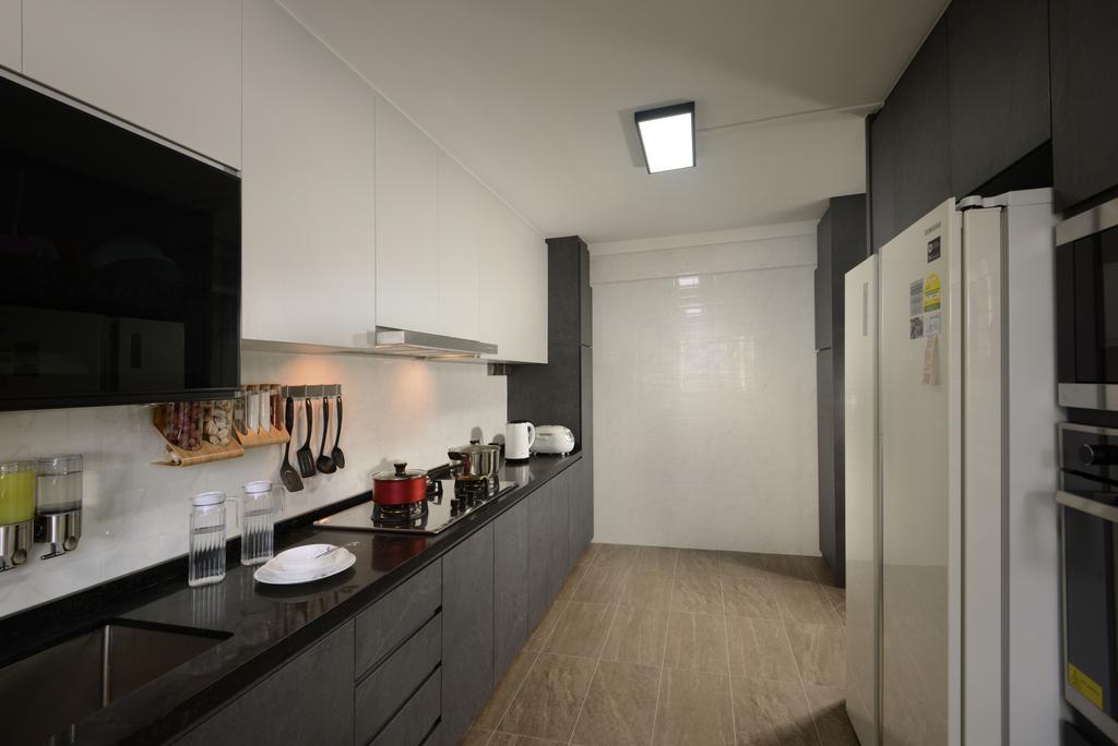 Modern, HDB, Kitchen, Yishun Street 21, Interior Designer, Darwin Interior