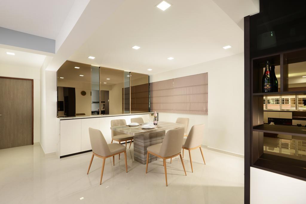 Modern, HDB, Dining Room, Yishun Street 21, Interior Designer, Darwin Interior