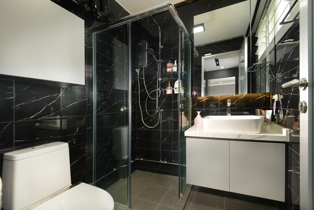Modern, HDB, Bathroom, Yishun Street 21, Interior Designer, Darwin Interior