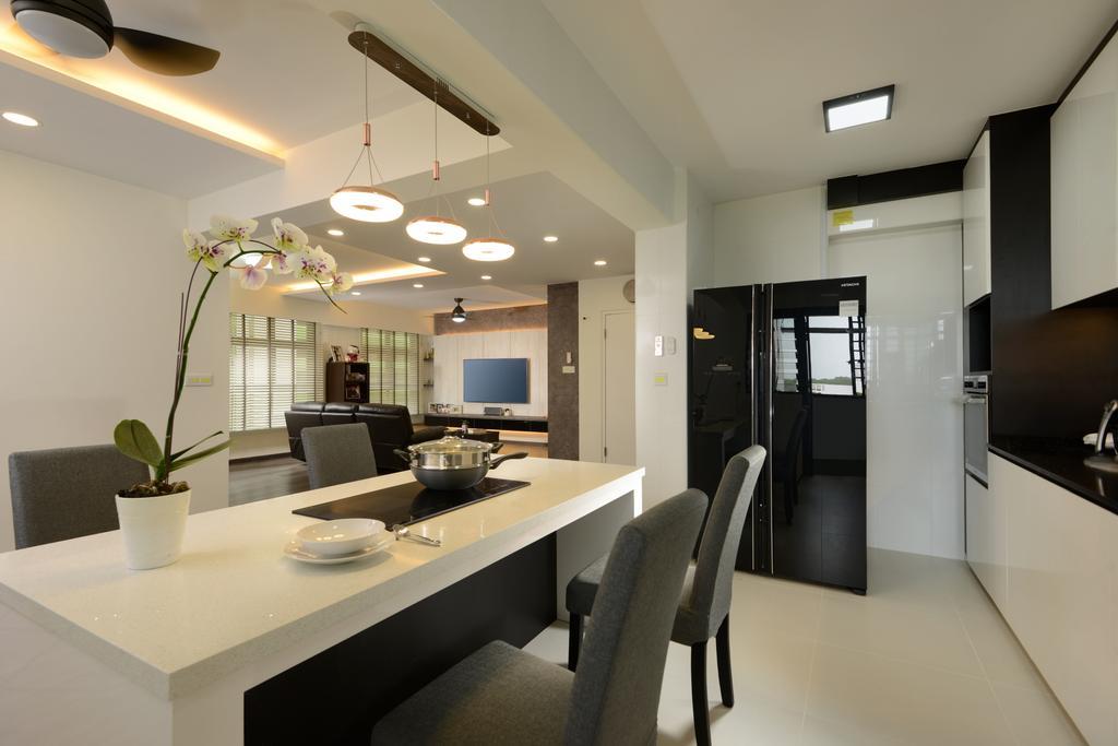 Modern, HDB, Dining Room, Tampines Street 61, Interior Designer, Darwin Interior